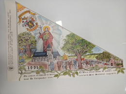 Bedevaartvaantje/Drapeau De Pèlerinage WIEZE (A140) - Religione & Esoterismo