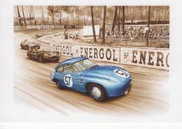 24 Heures Du Mans 1957 - DB Panhard  -  Pilotes: Deviterne/Laillier -  Dessin De Francois Bruere  -  CPM - Le Mans
