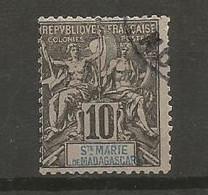 Timbre Colonie Française St Marie De Madagascar Oblitéré N 5 - Used Stamps