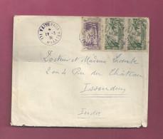 Lettre De 1938 Pour La France. YT N° 88 Et 122 En Paire - Exposition Internationale De Paris - Cartas