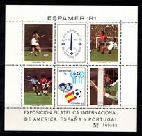 Argentine 1981 Mi. Bl. 28 Bloc Feuillet 100% Neuf ** ESPAMER, Football - Hojas Bloque