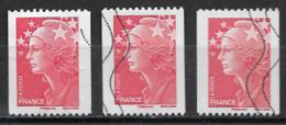 France Oblitéré  2008   N° 4240 ( Un Sans N° + Un Avec N°  à Droite + Un Avec   N°  à Gauche ) Voir Les 2 Scans - 2008-13 Marianne De Beaujard