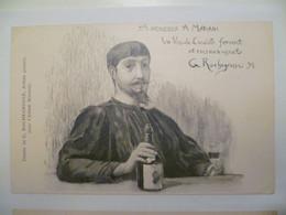 Carte Postale Ancienne Publicitaire Pour L'Album Le Vin MARIANI / Illustration G. ROCHEGROSSE - Reclame