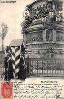 Russie - St. Petersbourg - Grenadiers De La Cour En Garde Près Du Monument Nicolas I - Edit. Scherer 1902 - Rusland