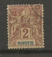 Timbre Colonie Française Mayotte Oblitéré N 2 - Used Stamps