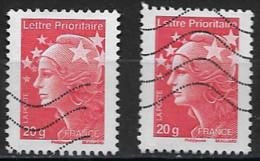 France Oblitéré  2011   N° 4566 Et 4566a   Lettre Prioritaire  Rouge - 2008-13 Marianne De Beaujard