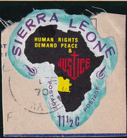 Sierra Leone: 1968   Human Rights Year    SG448   11½c  [F - Angola]   Used - Sierra Leone (1961-...)