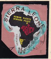 Sierra Leone: 1968   Human Rights Year    SG449   15c  [E - South West Africa]   Used - Sierra Leone (1961-...)