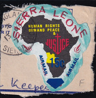 Sierra Leone: 1969   Human Rights - Surcharge    SG507   15c On ½c  [F - Angola]   Used - Sierra Leone (1961-...)