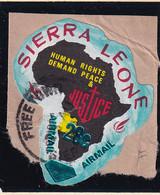 Sierra Leone: 1969   Human Rights - Surcharge    SG508   28c On ½c  [F - Angola]   Used - Sierra Leone (1961-...)