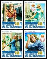 2020-11- DJIBOUTI- CINEMA GRACE KELLY       4V  MNH** - Cinema