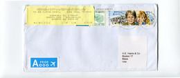 2020 Envelope To Boston Usa - Returned With Yellow Sticker - RTS - Retour - Cartas