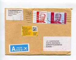 2020 Small Envelope To Zurich Airport - Returned Retour With Yellow Sticker + Airport Stamp 8060 Zurich Flughafen - Cartas