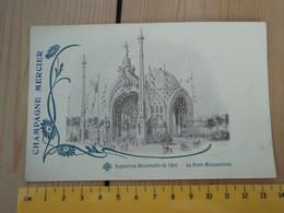 Cpa Exposition Universelle De 1900 - La Porte Monumentale - Champagne MERCIER. - Pubblicitari