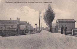 4842494Lekkerkerk, Kerkweg Met Israelitische Begraafplaats.1931. (diverse Vouwen Zie Achterkant) - Sonstige