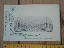 Cpa Exposition Universelle De 1900 - Le Champ De Mars - Champagne MERCIER. - Pubblicitari