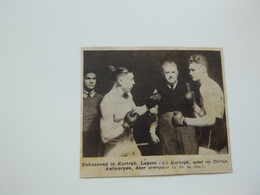 """Origineel Knipsel ( B 132 ) Uit Tijdschrift """" Zondagsvriend """" 1937 :  Boxe  Boks  Boksen  Kortrijk - Sin Clasificación"""