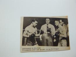 """Origineel Knipsel ( B 133 ) Uit Tijdschrift """" Zondagsvriend """" 1937 :  Boxe  Boks  Boksen  Kortrijk - Sin Clasificación"""