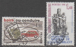 FRANCE  1981 __N° 2159 & 2177  __  OBL VOIR SCAN - Gebraucht