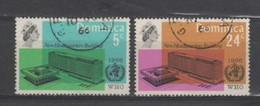 (S626) DOMINICA, 1966 (New WHO Headquarters). Complete Set. Mi ## 193-194. Used - Dominica (...-1978)