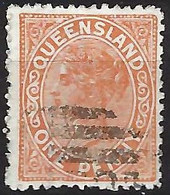 AUSTRALIE Queensland 1883: Le Y&T 51a, Obl. - Gebraucht