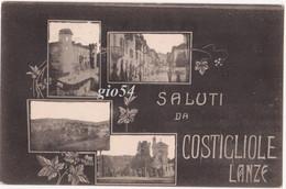 Asti Saluti Da Costigliole Lanze Floreale - Asti