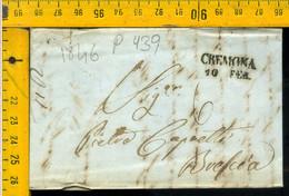 Piego Con Testo Cremona Per Brescia - 1. ...-1850 Prephilately