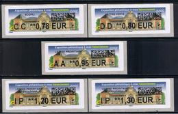 ATMs, LISA2, 0.78/ 0.80/ 0.95/ 1.20/ 1.30, èvenement Maximaphile è/max, 20/10 /2018, MUSÉE Des Beaux-arts, Valenciennes, - 2010-... Geïllustreerde Frankeervignetten