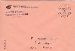 90 – BELFORT – Cachet à Date « 90 BELFORT – TELEPHONE » - Pli De Service Des Télécommunications - 1961-....