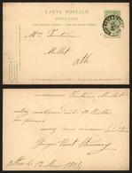 Belgique 1908 - Entier Postal Mevergnies-Attre Vers Ath - AK [1871-09]