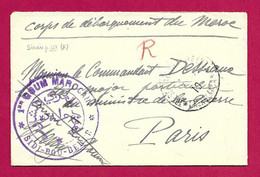 """Enveloppe Datée De 1910 - Corps De Débarquement Au Maroc - Casablanca - Oblitération """"Trésor Et Postes Aux Armées"""" - Cartas"""