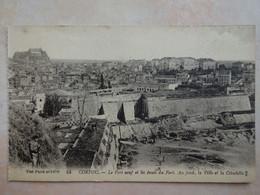CPA GRECE GREECE CORFOU Le Fort Neuf Et Les Fossés Du Fort - Grecia