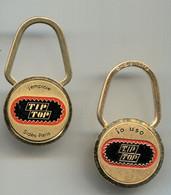 2 Porte-clefs Tip-Top Un Français Et Un Italien - Key-rings