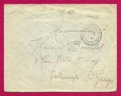 """Enveloppe Datée De 1910 - Corps De Débarquement Au Maroc - Kasba Tadla - Oblitération """"Trésor Et Postes"""" - Cartas"""