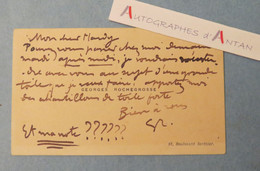 CDV Georges ROCHEGROSSE Peintre Né à Versailles - Toile - HARDY - Carte De Visite Autographe - Peinture Painter - Autógrafos
