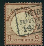 1872, 9 Kreuzer Mittelrotbraun (27 B), Gestempelt. Befund Jäschke-Lantelme BPP - Oblitérés