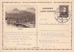 TCHECOSLOVAQUIE 1938 - Entier Postal Illustrée TATRY - Cartoline Postali
