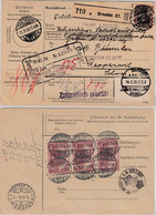 DR - 3x2,50 M. Nord/Süd U.a., Paketkarte I.d. SCHWEIZ, Dresden 27 - Rapperswil - Storia Postale