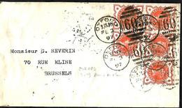 UK. L. TP 86 (Mi) 91 (Yv) (bloc De 5)  Oxford > Bruxelles  3/2/97 - Briefe U. Dokumente
