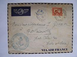 FRANCE 1940 FM INDOCHINE NATHRANG Vers CHARTRES AVEC CACHET DU 16iéme REGT D'INFANTERIE COLONIALE - Used Stamps