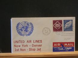 93/571 LETTER U.N. NEW-YORK  1960 1° VOL - Cartas
