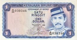 Brunei 1 Ringgit, P-6c (1986) - UNC - Brunei