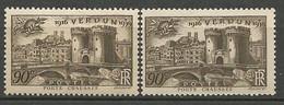 VERDUN N° 425 Variétée CLAIR NEUF** LUXE SANS CHARNIERE  / MNH - Curiosités: 1931-40 Neufs