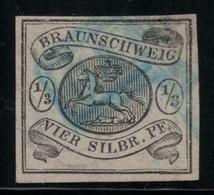 Allemagne - Anciens états - Brunswick N° 5 Oblitéré - Filigrane Cor - Cote 525 € - Braunschweig