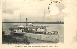 AFRIQUE LE SAHEL VAPEUR FAISANT LE TRANSPORT DES PASSAGERS DE SAINT LOUIS A KAYES - Senegal