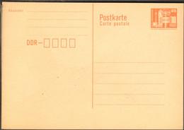 DDR Ganzsache Wertstempel Bauwerke 25 Pfg. 1986 P 87 I Ungebraucht - Postales - Nuevos
