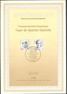 BRD FDC Ersttagsblatt 1988 Frauen Der Deutschen Geschichte - FDC: Feuilles