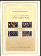 BRD FDC Ersttagsblatt 1988 Für Die Jugend - FDC: Feuilles