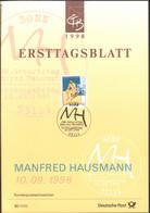 BRD FDC Ersttagsblatt 1998 Manfred Hausmann - FDC: Feuilles