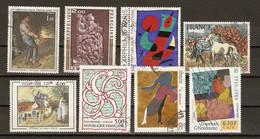 France - Tableaux - Petit Lot De 8° - Utrillo - Alechinsky - Chaissac- Arp - Millet - Miro - Brayer - Moutier D'Ahun - Lots & Kiloware (max. 999 Stück)
